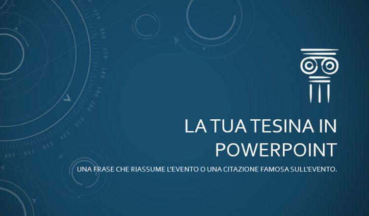 tesina powerpoint